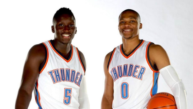 Russell Westbrook and Victor Oladipo