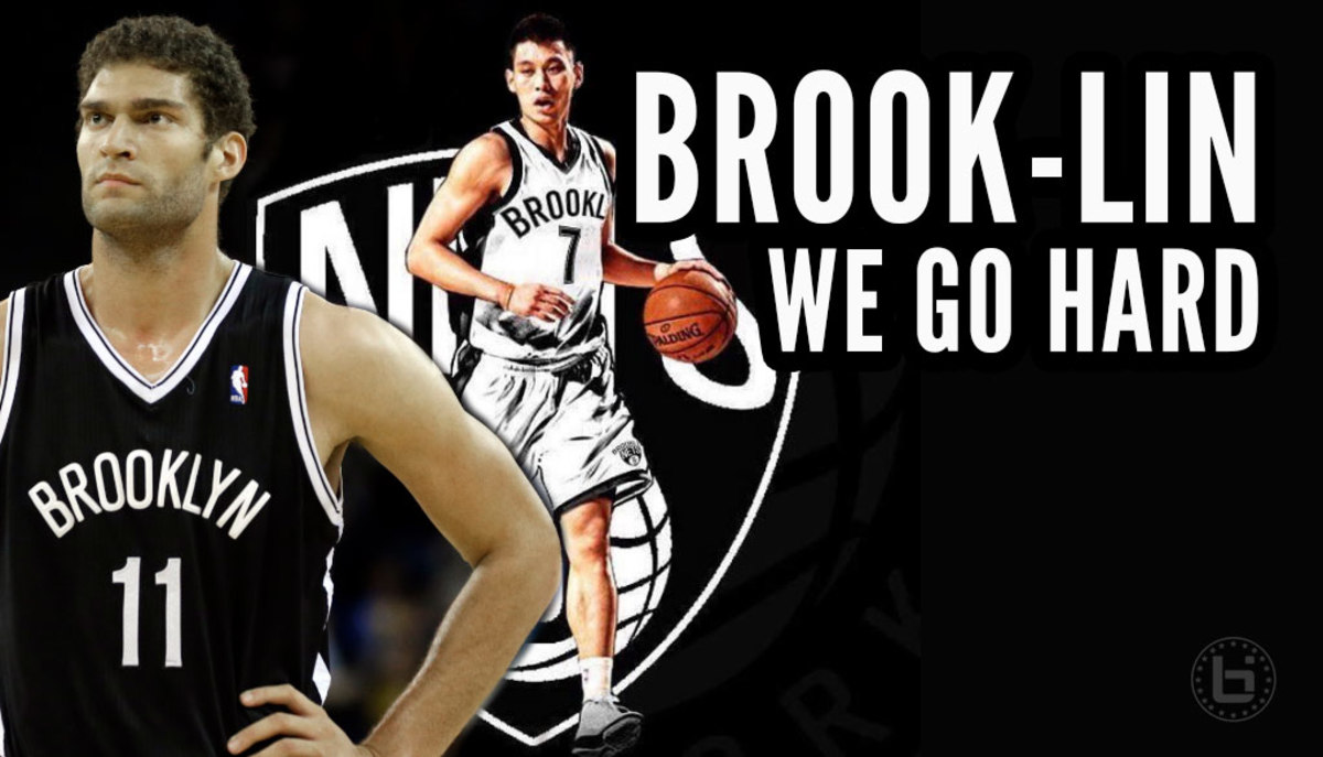 Brook Lopez and Jeremy Lin