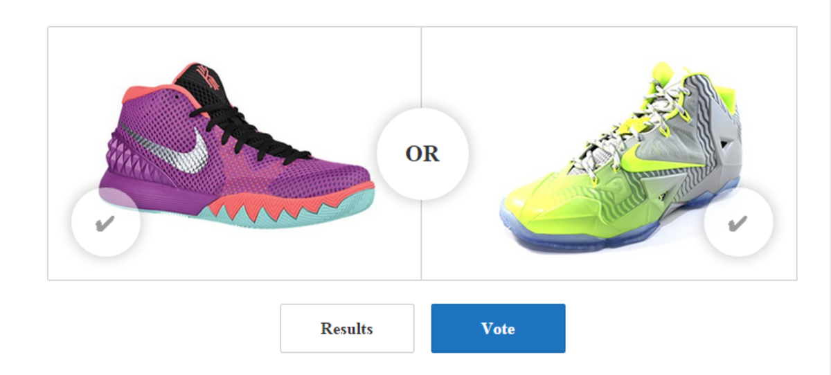Featured Image,  on 1: Nike Kyrie 1 Berry vs Nike Lebron XII Collection Silver