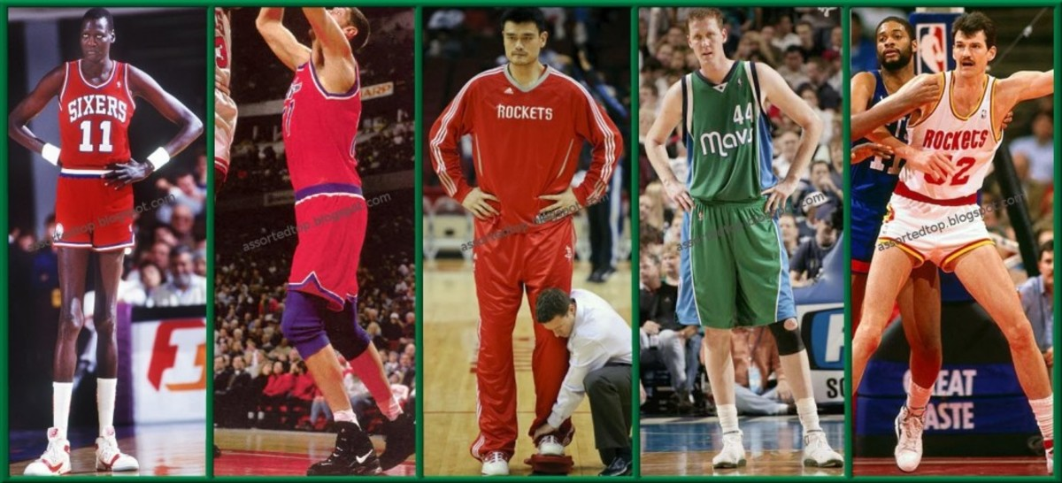Top 10 Tallest Players in NBA History