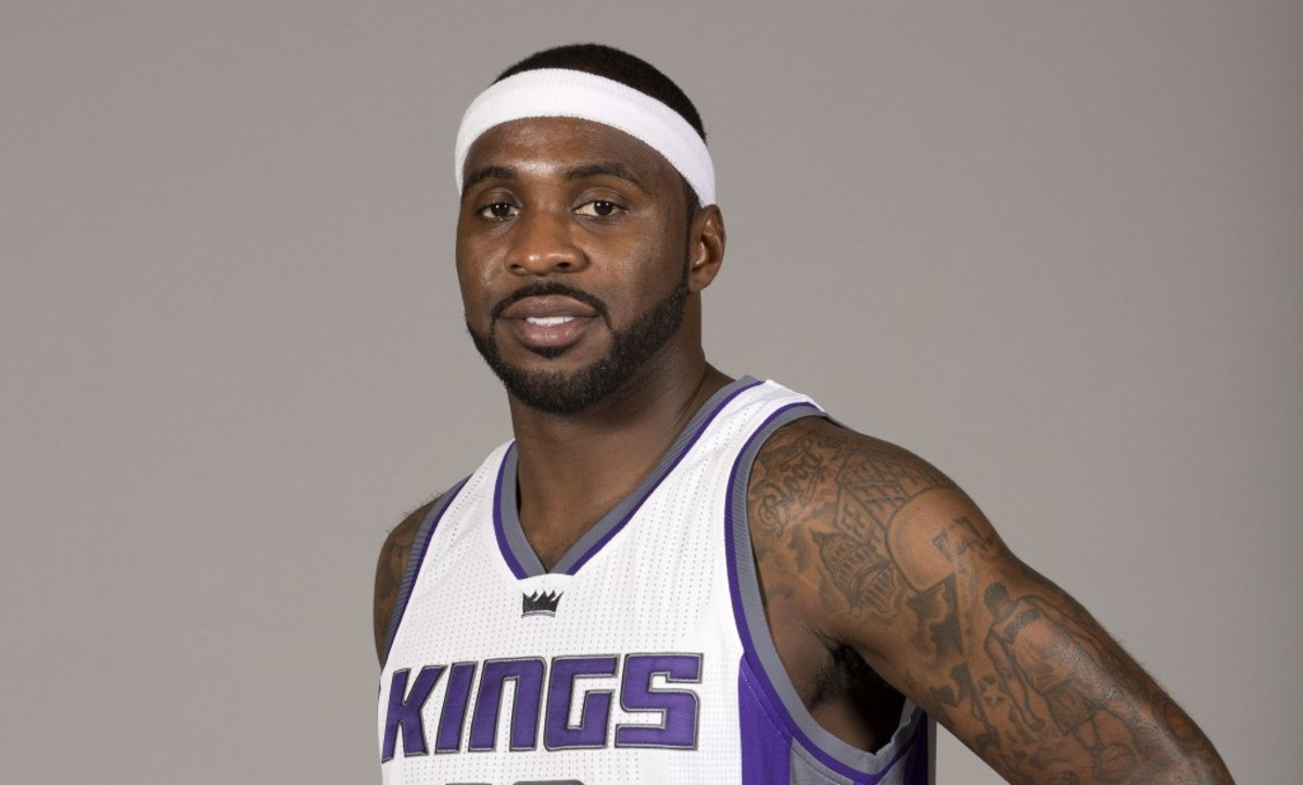 Sacramento Kings guard Ty Lawson poses for photos during the NBA basketball team's media day Monday, Sept. 26, 2016, in Sacramento, Calif. Lawson,a free agent, signed a one-year contract with Kings in August. (AP Photo/Rich Pedroncelli)