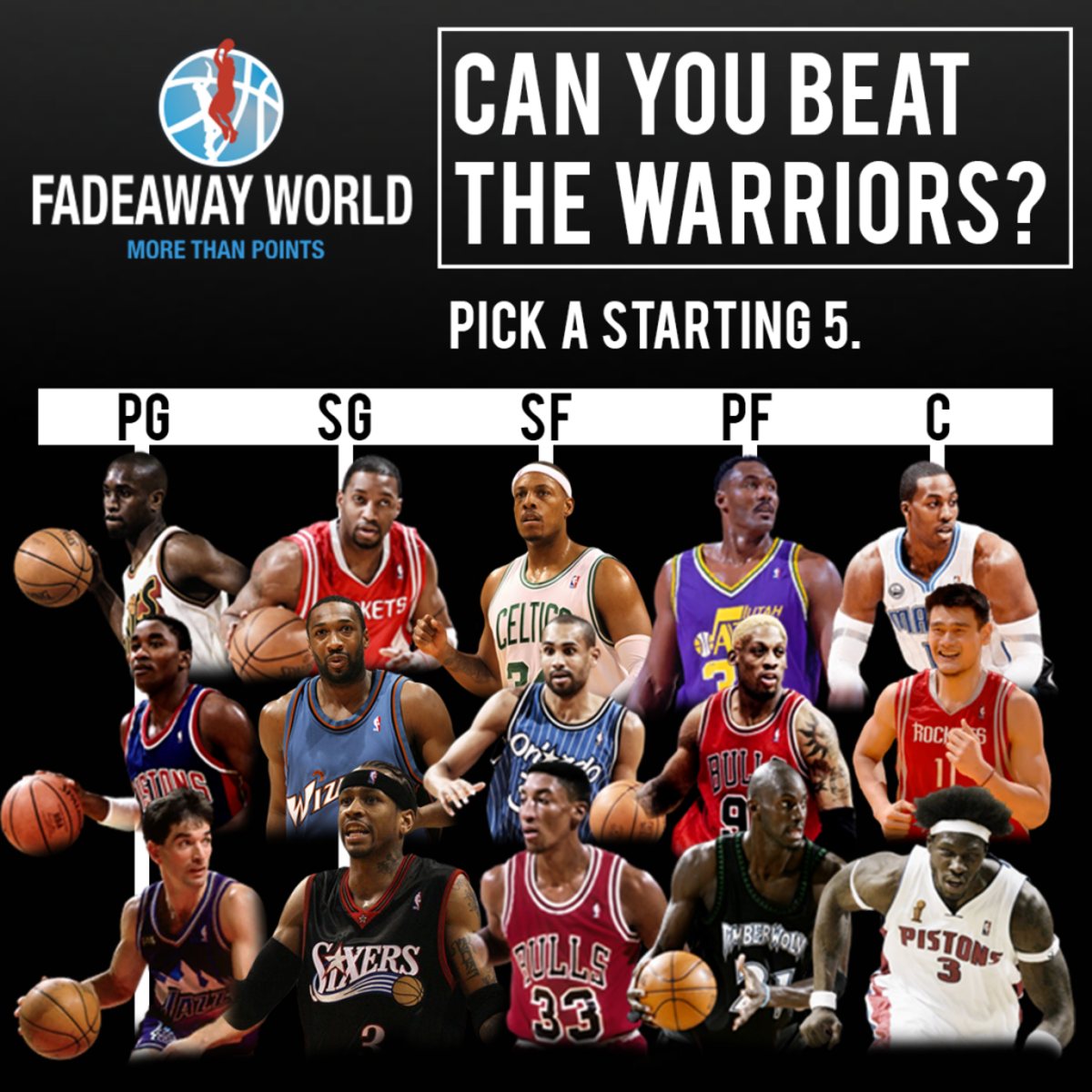 Can You Pick A Starting 5 To Rival The Golden State Warriors  42a39d902