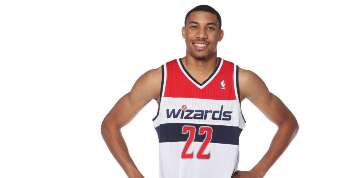 WASHINGTON, DC - SEPTEMBER 27: Otto Porter Jr #22 of the Washington Wizards poses for a portrait during 2013 NBA Media Day at the Verizon Center on September 27, 2013 in Washington, DC. NOTE TO USER: User expressly acknowledges and agrees that, by downloading and or using this photograph, User is consenting to the terms and conditions of the Getty Images License Agreement. Mandatory Copyright Notice: Copyright 2013 NBAE (Photo by Ned Dishman/NBAE via Getty Images)