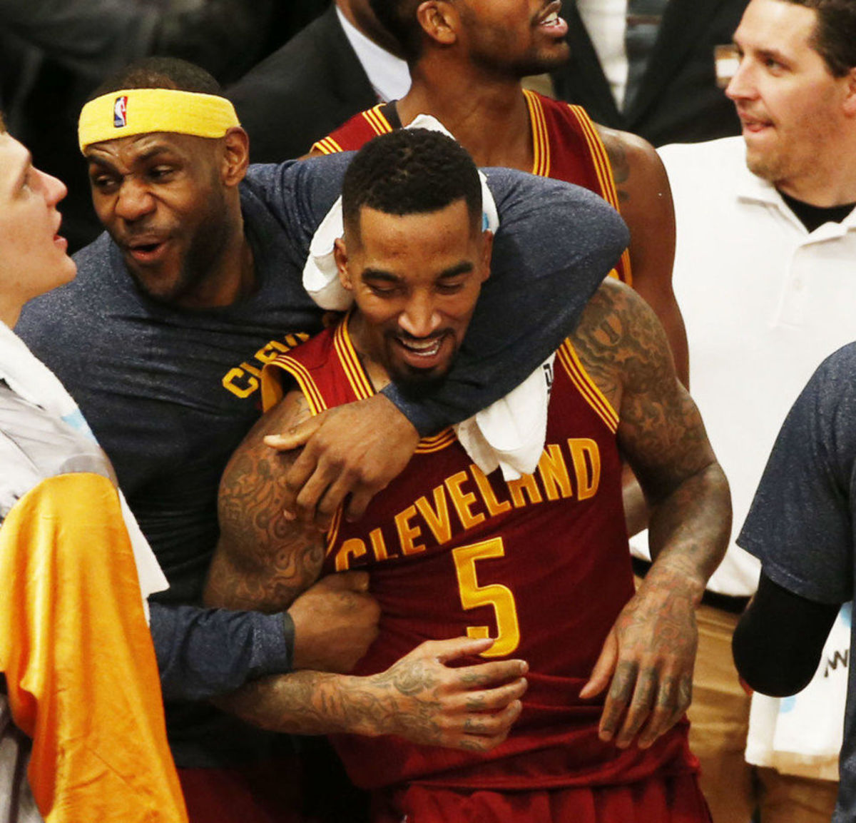 LeBron James and JR Smith
