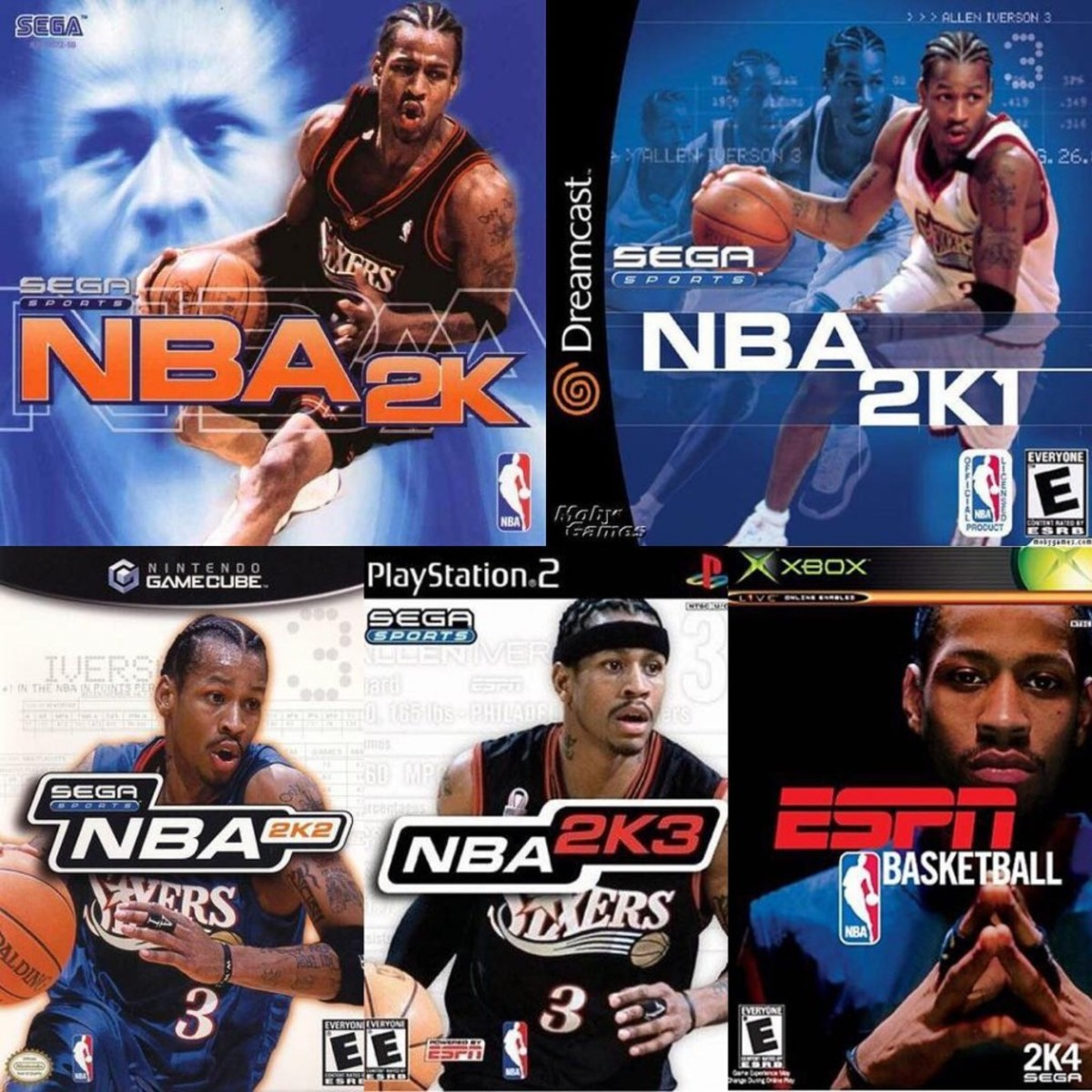 NBA 2K Covers Through The Years
