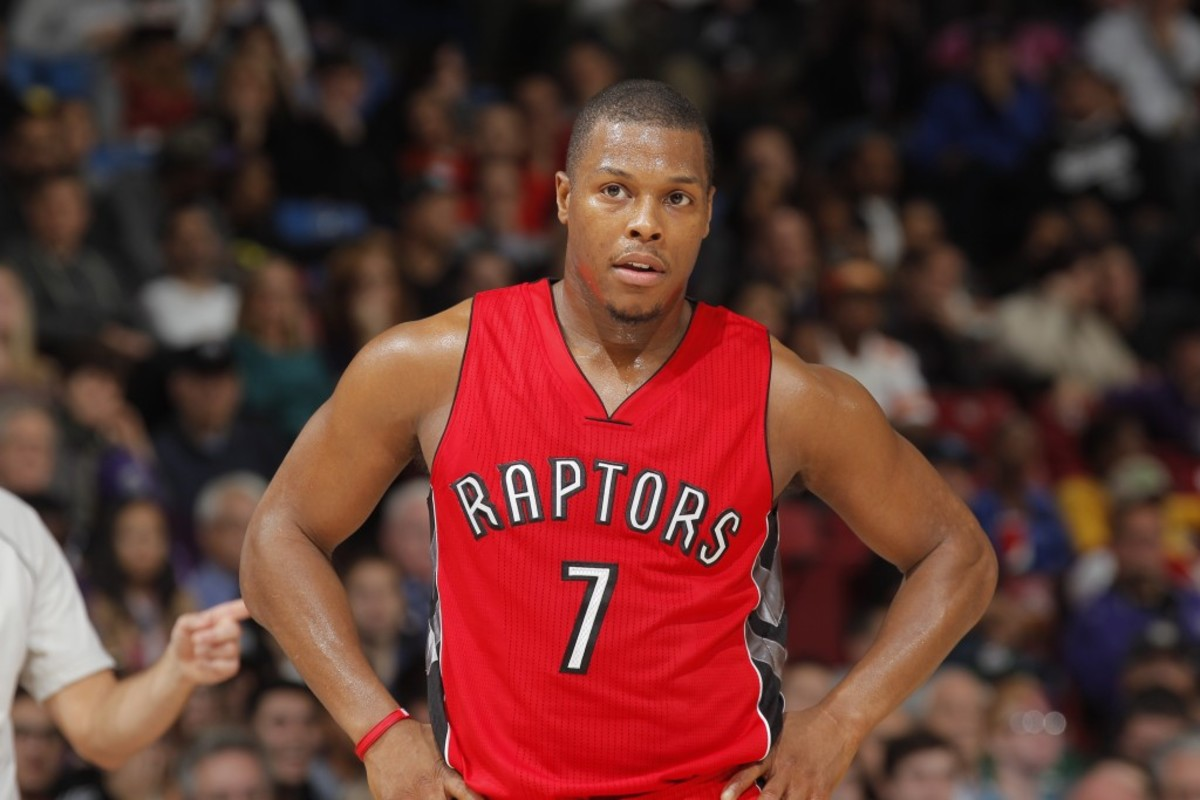 SACRAMENTO, CA - DECEMBER 2: Kyle Lowry #7 of the Toronto Raptors looks on during the game against the Sacramento Kings on December 2, 2014 at Sleep Train Arena in Sacramento, California. NOTE TO USER: User expressly acknowledges and agrees that, by downloading and or using this photograph, User is consenting to the terms and conditions of the Getty Images Agreement. Mandatory Copyright Notice: Copyright 2014 NBAE (Photo by Rocky Widner/NBAE via Getty Images)