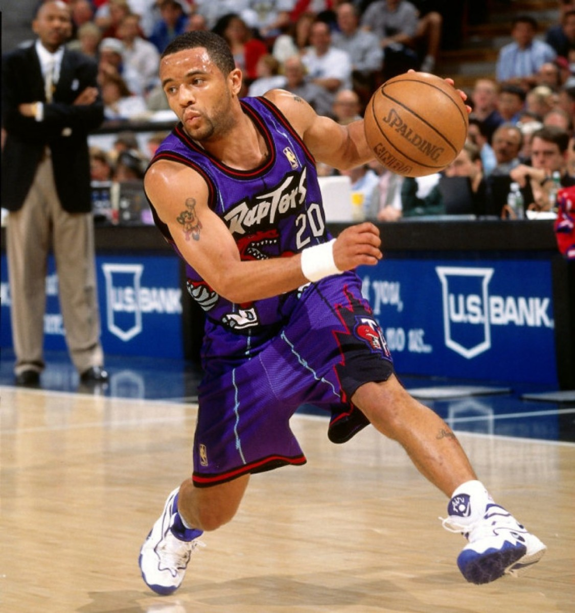 Subject: Damon Stoudamire On 2014-10-24, at 10:36 AM, Ho, Patrick wrote: another option SACRAMENTO, CA - MARCH 3: Damon Stoudamire #20 of the Toronto Raptors dribbles the ball during a game played on March 3, 1997 at Arco Arena in Sacramento, California. NOTE TO USER: User expressly acknowledges and agrees that, by downloading and or using this photograph, User is consenting to the terms and conditions of the Getty Images License Agreement. Mandatory Copyright Notice: Copyright 1997 NBAE (Photo by Rocky Widner/NBAE via Getty Images) Patrick Ho Deputy Sports Editor Toronto Star  stoudamire.JPG