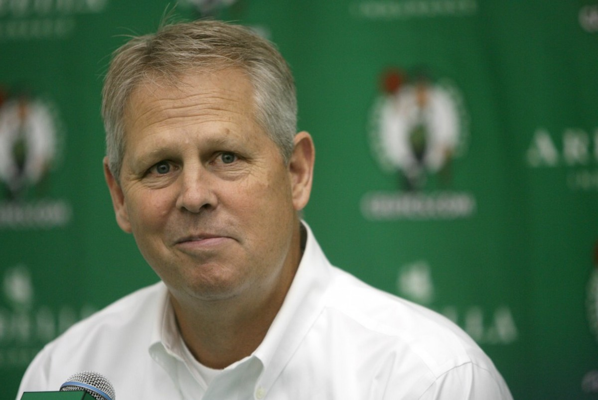 (09/28/2012 - Waltham, MA) Danny Ainge speaks to the media at the Celtics media day at HealthPoint in Waltham Friday afternoon.  (092812celtstbc - Photo by Tara Carvalho.)